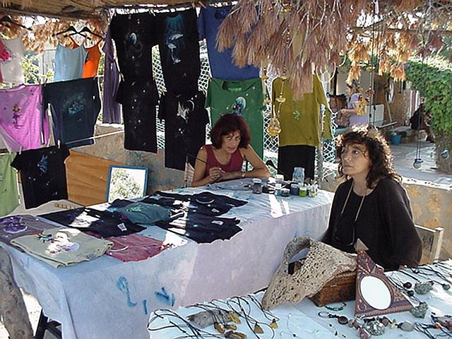 Handpainted T-shirts - Hippie Market, el Pilar, Sept.13, 2000