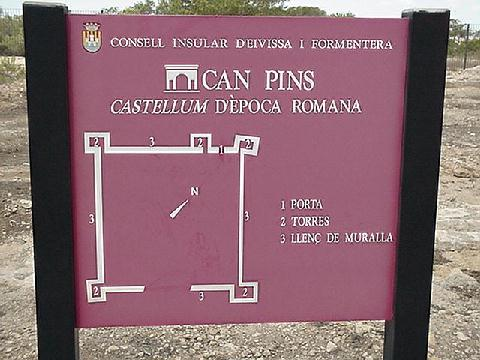 Plan of Roman Castle - Formentera, September 2000