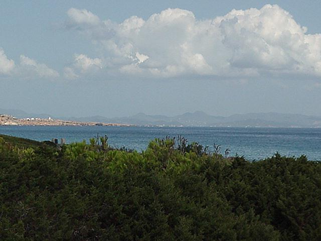 Distant view of Ibiza - Formentera, September 2000