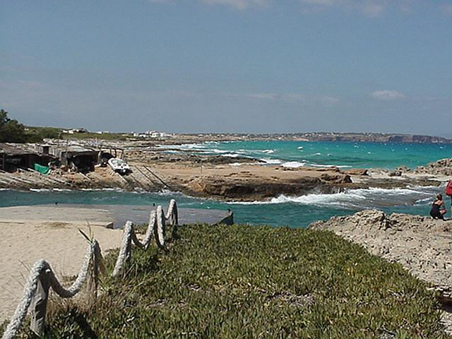 View of northern coast - Formentera, September 2000